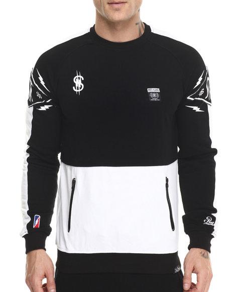 Post Game - Men Black O M T 2 - Piece Crewneck Sweatshirt