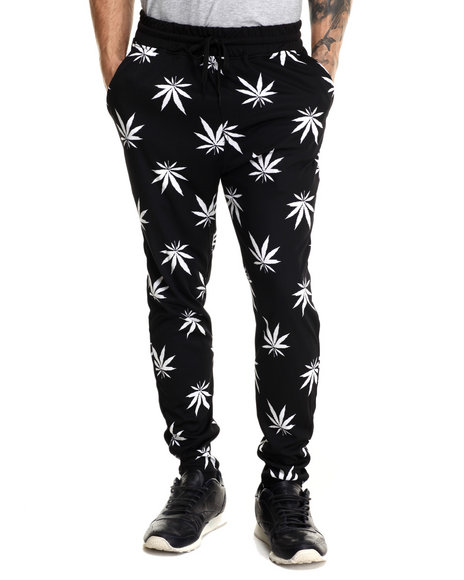 Buyers Picks - Men Black Ancient Print Interlock Drawstring Sweatpants