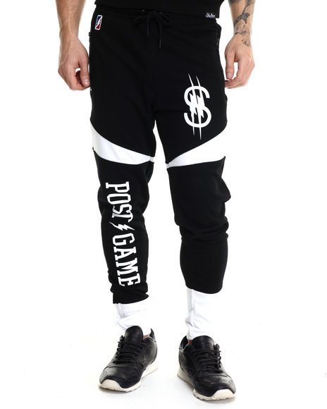 Post Game - Men Black O M T Joggers