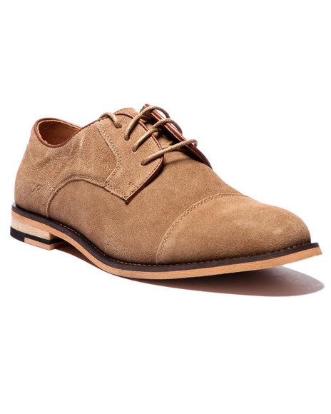 Ur-ID 214667 Buyers Picks - Men Tan X - Ray Flatiron Cap - Toe Oxford Shoes