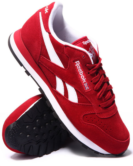 Reebok - Men Red C L Leather Suede