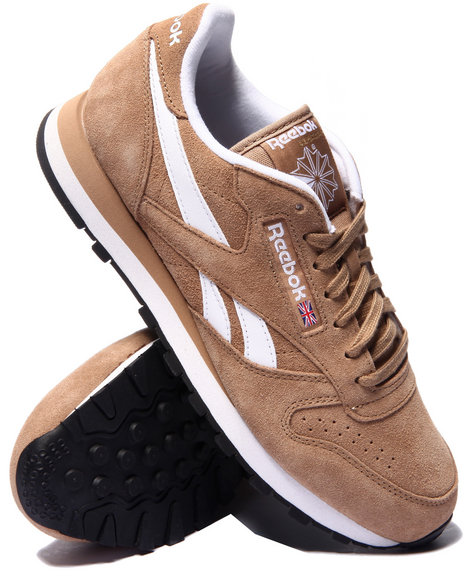 Ur-ID 214669 Reebok - Men Beige C L Leather Suede
