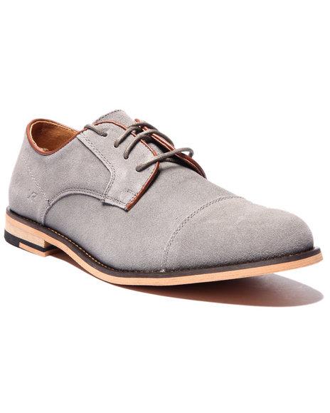 Ur-ID 214670 Buyers Picks - Men Charcoal X - Ray Flatiron Cap - Toe Oxford Shoes