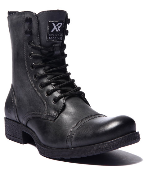 Ur-ID 214674 Buyers Picks - Men Black X - Ray Bowery Cap - Toe Boots by Buyers Picks