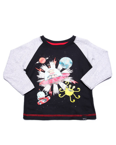 Paul Frank - Boys Black Outer Space Slider (2T-4T) - $3.99