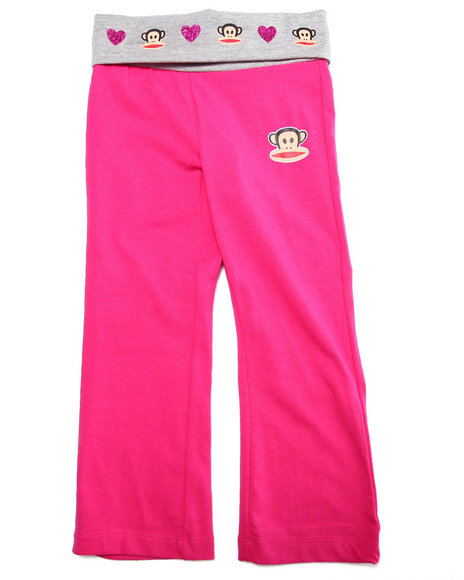 Paul Frank - Girls Pink Yoga Pants (2T-4T)