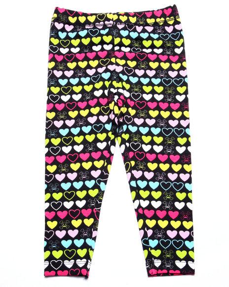 Paul Frank - Girls Black Allover Print Leggings (2T-4T)
