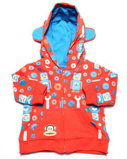 Boys - ALLOVER PRINT HOODY W/ EARS (NEWBORN)