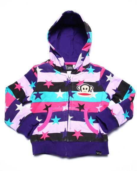Paul Frank - Girls Purple You're A Star Hoodie (2T-4T) - $12.99