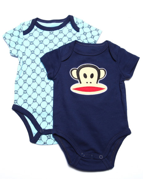 Paul Frank - Boys Navy 2 Pack Bodysuits (Newborn)