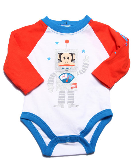 Paul Frank - Boys White Robot Bodysuit (Newborn)