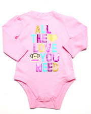 Girls - ALL THE LOVE YOU NEED BODYSUIT (NEWBORN)