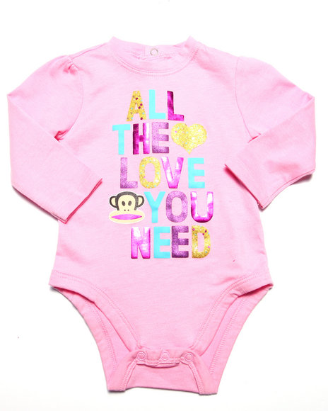Paul Frank - Girls Pink All The Love You Need Bodysuit (Newborn)