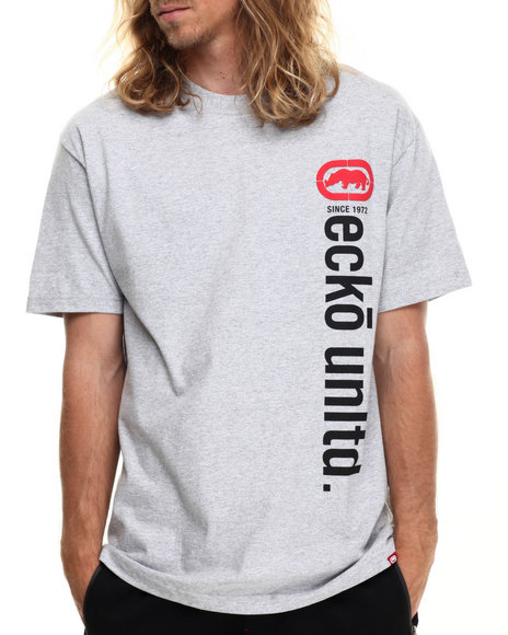 Ecko - Men Grey Vertical Ecko T-Shirt