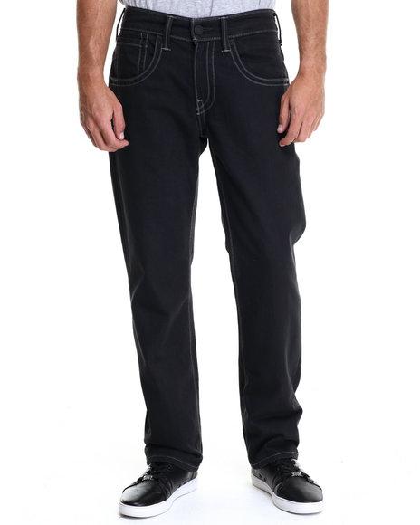 Ur-ID 214687 Levi's - Men Black 514 Slim Straight Fit Double Stitch Black Black Rigid Jeans