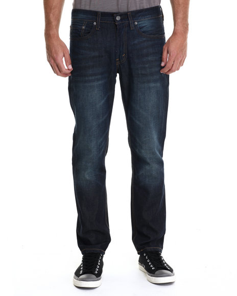 Levi's - Men Dark Wash 511 Slim Fit Green Splash Jeans
