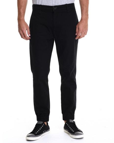 Ur-ID 214690 Levi's - Men Black Chino Jogger Self Cuff Twill Pants
