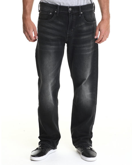Levi's - Men Dark Wash 569 Loose Straight Fit Mute Hurricane Jeans