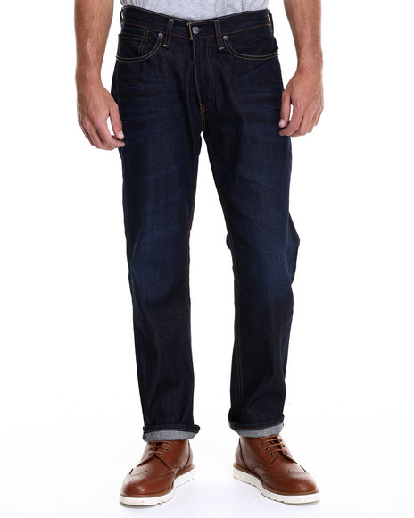 Levi's - Men Dark Blue 514 Slim Straight Fit Evaporation Jeans