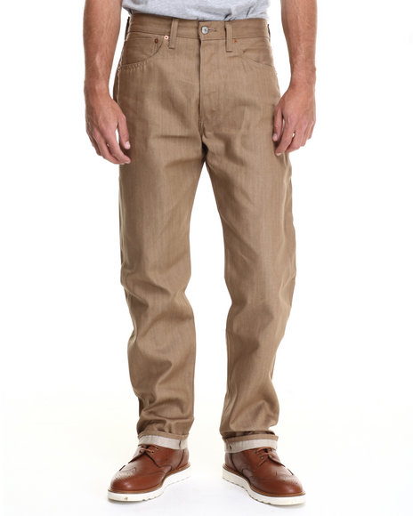 Levi's - Men Tan 501 Shrink-To-Fit Marin Light Weight Jeans