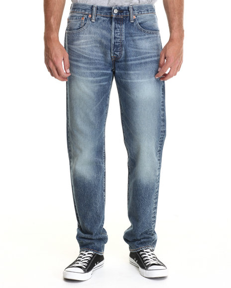 Levi's - Men Light Wash 501 Original Fit Wired Jeans