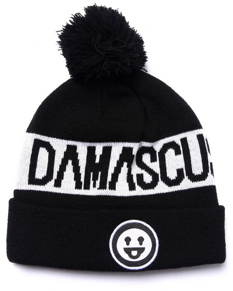 Ur-ID 223019 Damascus - Men Black P O M Damascus Beanie
