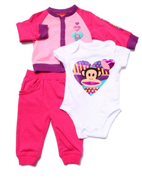 Paul Frank - Girls Pink Loving You 3 Pc Set (Newborn) - $9.99
