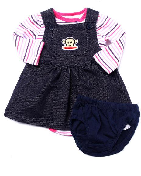 Paul Frank - Girls Navy 2 Pc Set - Skirtall & L/S Bodysuit (Newborn)