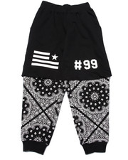 Sweatpants - BANDANA LAYERED JOGGERS (8-20)