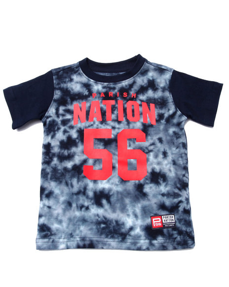Parish - Boys Navy Tie Dye Nation Tee (2T-4T)