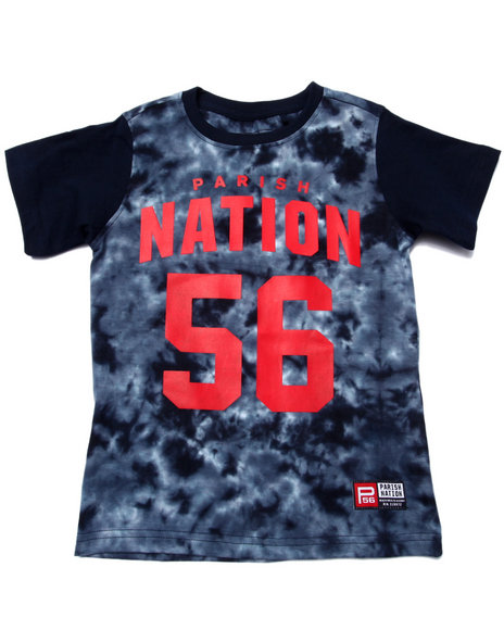 Parish - Boys Navy Tie Dye Nation Tee (4-7)