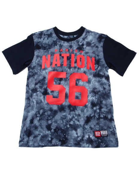 Parish - Boys Navy Tie Dye Nation Tee (8-20)