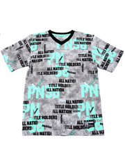 Sizes 8-20 - Big Kids - ALL OVER PRINT V-NECK TEE (8-20)