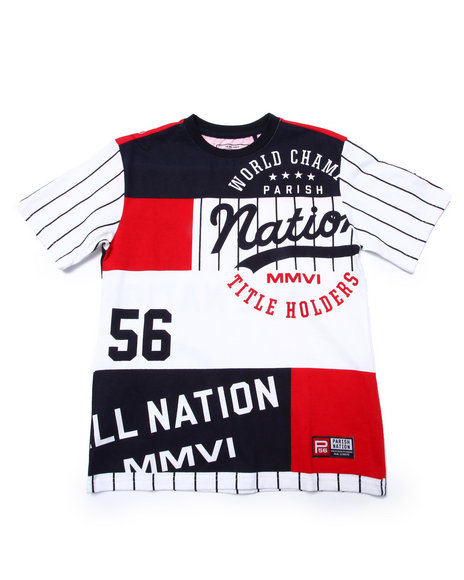 Parish - Boys White Nation League Tee (8-20)