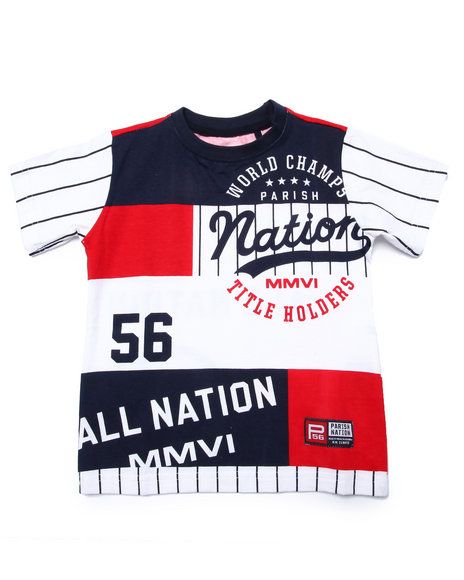 Parish - Boys White Nation League Tee (2T-4T)