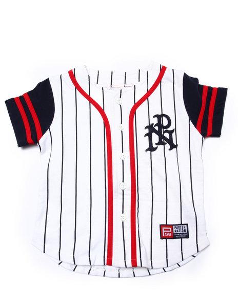 Parish - Boys White Striped Parish Baseball Jersey (4-7)