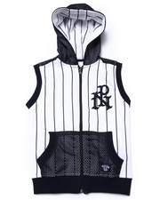 Hoodies - SLEEVELESS BASEBALL HOODY (4-7)