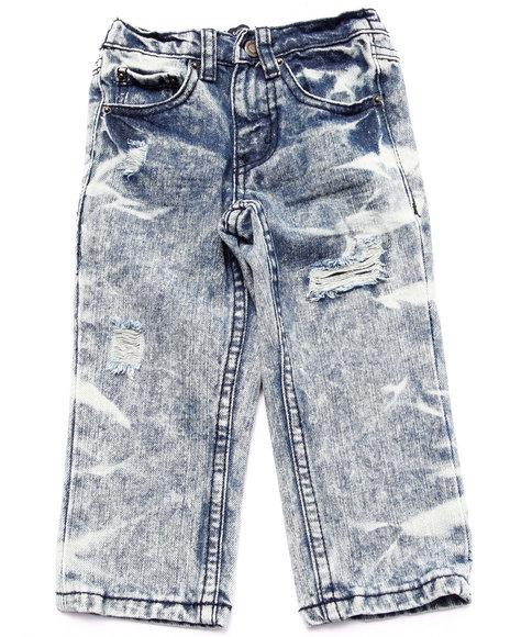 Parish - Boys Light Wash Distressed Acid Wash Jeans (2T-4T)