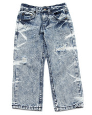 Bottoms - DISTRESSED ACID WASH JEANS (4-7)