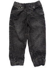 Bottoms - ACID WASH DENIM JOGGERS (2T-4T)