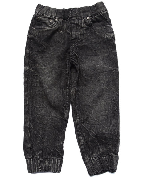 Akademiks - Boys Black Acid Wash Joggers (2T-4T) - $44.00