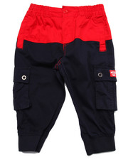 Pants - COLOR BLOCK TWILL CROPPED PANTS (8-20)