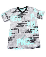 Boys - ALL OVER PRINT V-NECK TEE (4-7)