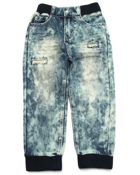 Parish - Boys Light Wash Acid Wash Joggers (4-7)