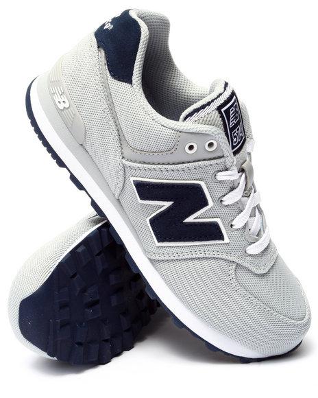 New Balance - Boys Grey Pique Polo 574 Sneakers (3.5-7)
