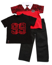Sets - 3 PC SET - ANIMAL PRINT POLO, TEE, & JEANS (2T-4T)