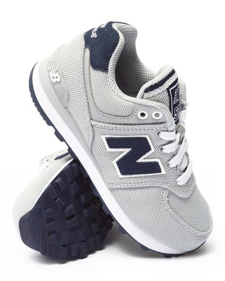 New Balance - Boys Grey Pique Polo 574 Sneakers (11-3)