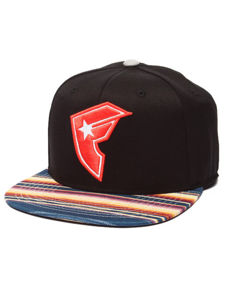 Ur-ID 214710 Famous Stars & Straps - Men Black Native Boh Flex Fit Hat