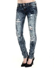 Basic Essentials - Carl Skinny Acid Wash Jean