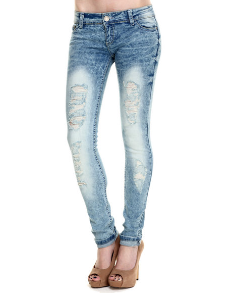 Basic Essentials - Women Blue Ice Blue Skinny Jean